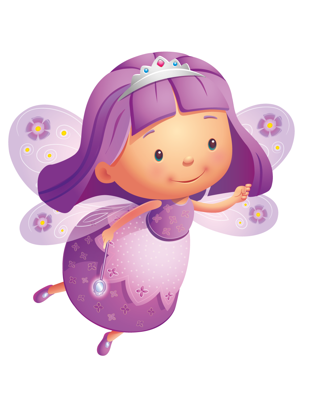 Purple clip art transprent. Fairy clipart animated