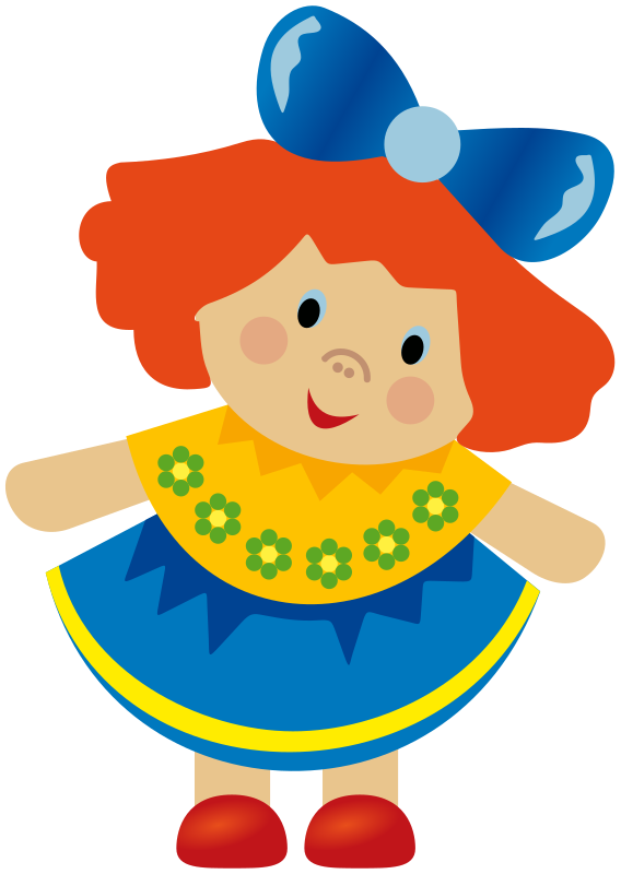 Toy clipart illustration.  collection of doll