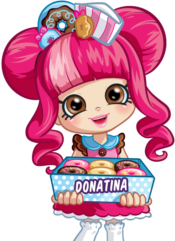 Doll clipart shoppie. Character donatina png shopkins