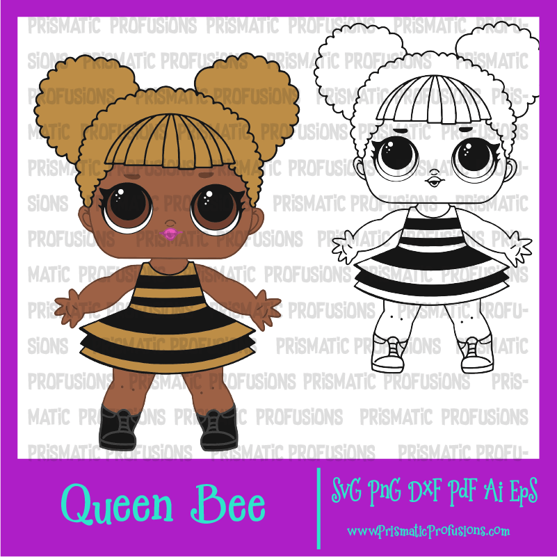Queen bee lol doll. Dolls clipart svg