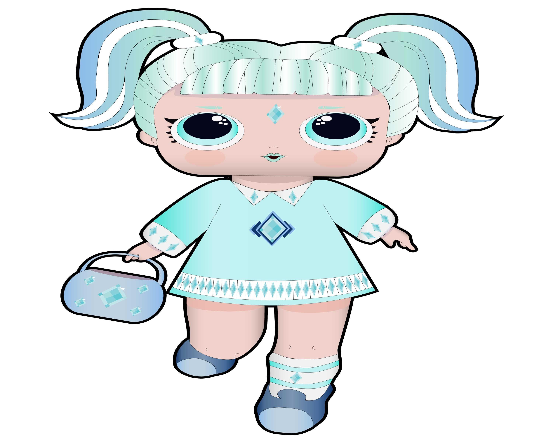 Dolls clipart svg. Diamond doll digital