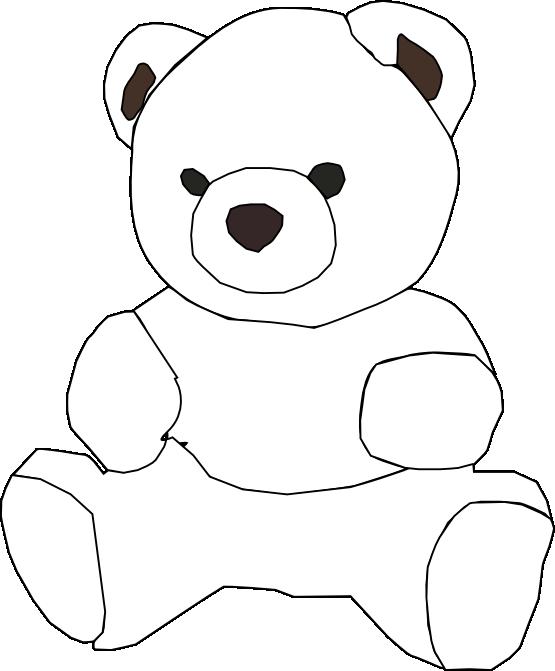 Medical clipart teddy bear. Net black white line