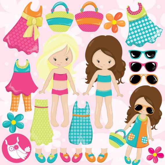 Pin on products . Dolls clipart vector