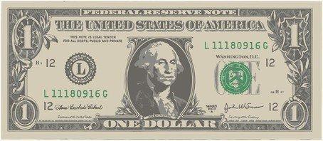 Free one american bill. Dollar clipart