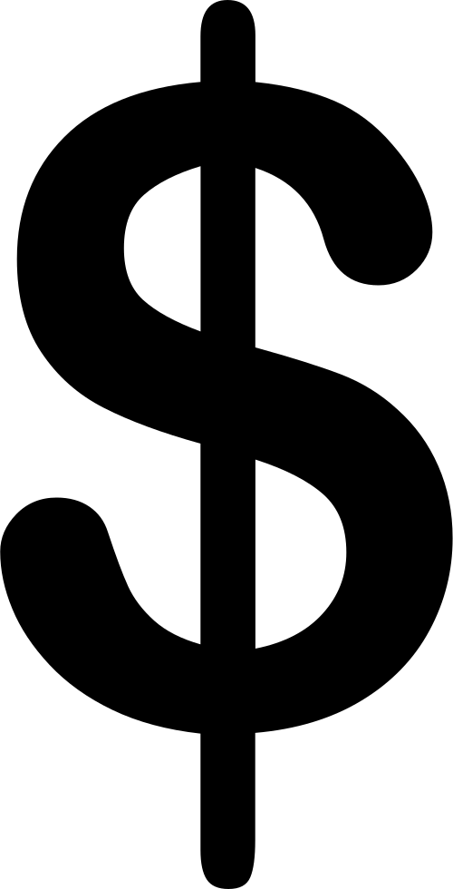 Dollar sign stylized. Dollars clipart transparent free