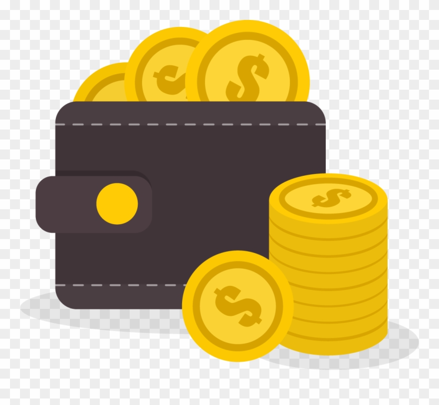 Coins png image referral. Dollar clipart banner
