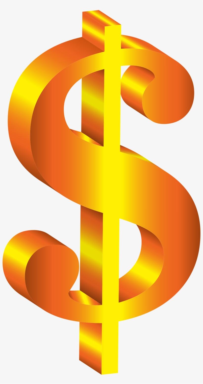 Dollar clipart banner. Golden d sign royalty