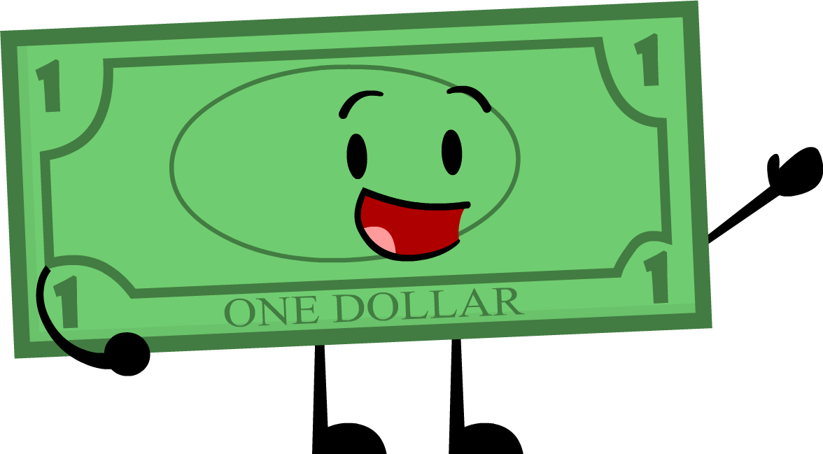 Image dollar bill pose. Number 1 clipart cool
