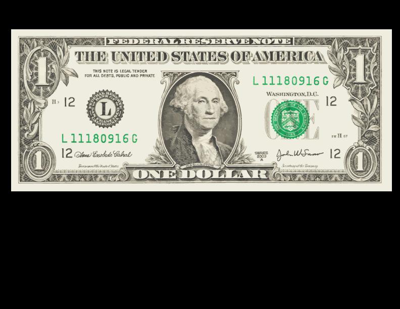 United states one bill. Dollar clipart dollar american