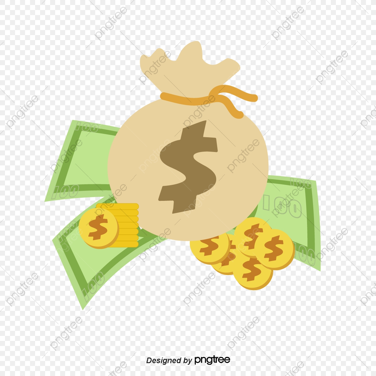 Dollars clipart dollar bag. A of the png