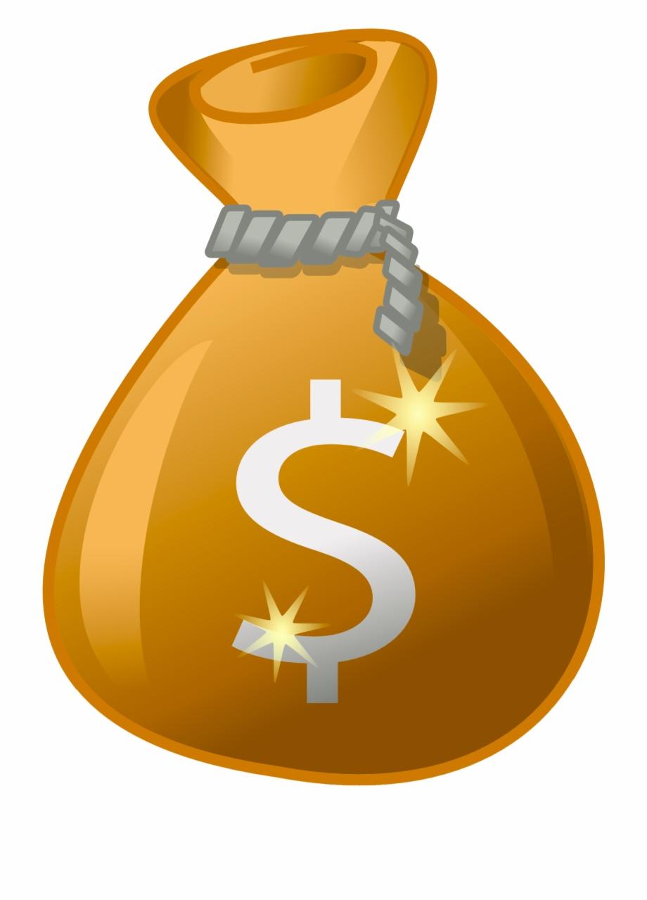 Png transparent image money. Dollar clipart dollar bag