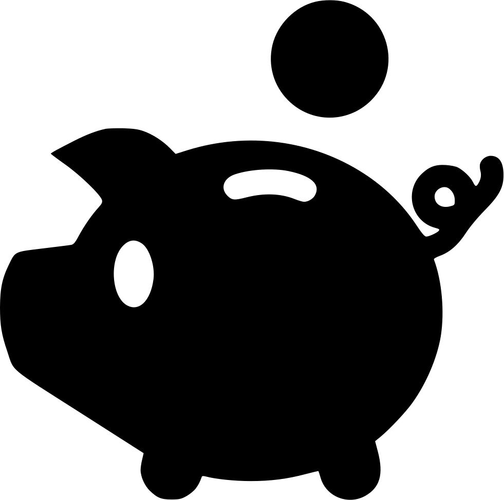 Pig piggy euro yenb. Economy clipart 100 dollar