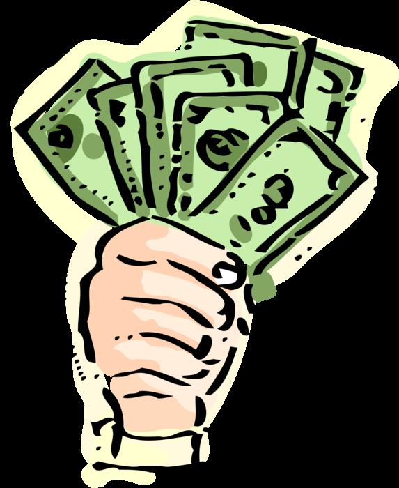 dollars clipart fist full money