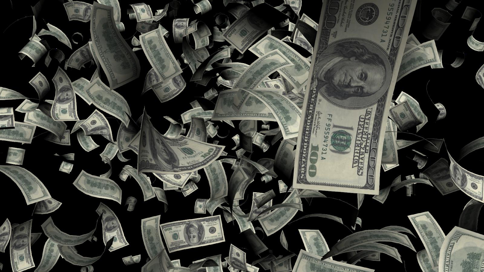 Money background png. Flying dollars transparent mart
