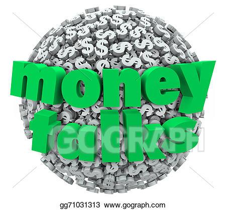 Dollar clipart money talk. Stock illustration talks words