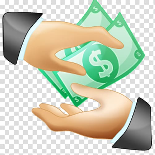 Payment money holding the. Financial clipart salary