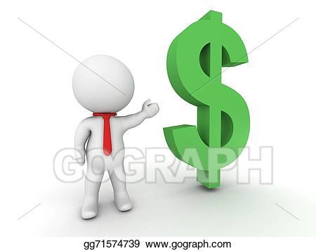 Drawing d salesman . Dollar clipart show me the money