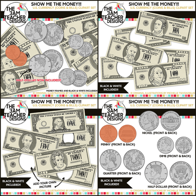 U s currency and. Dollar clipart show me the money