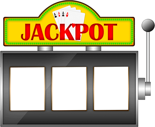 Graphic of a man cheating a slot machine with a magnet
