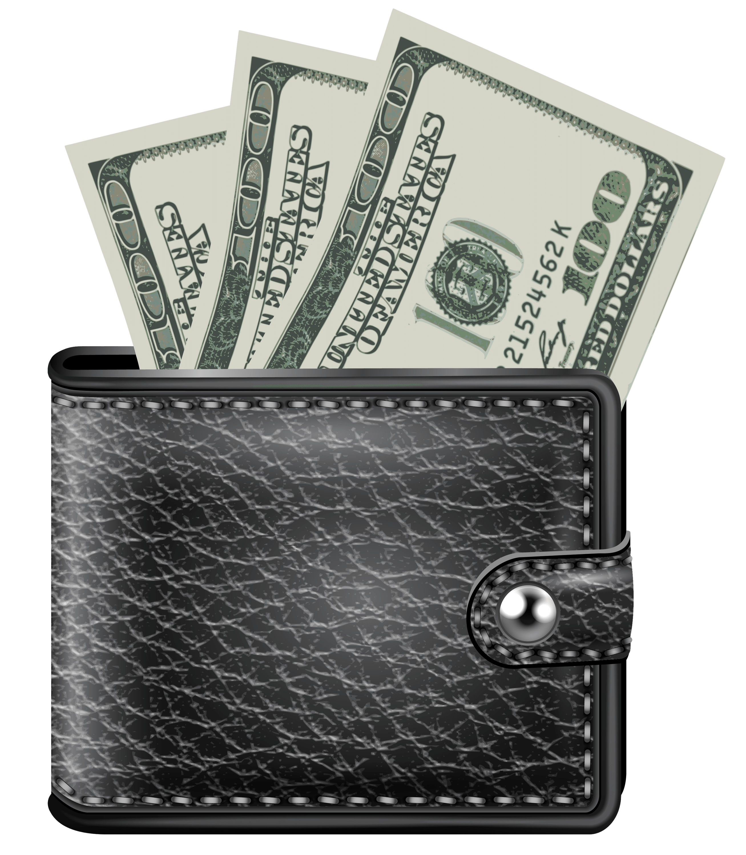 Wallet clipart leather wallet. Money transparent png stickpng