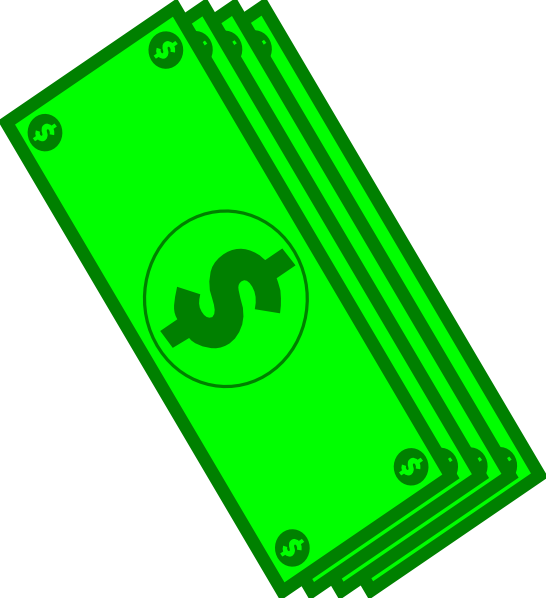 Dollar bills clip art. Money clipart green