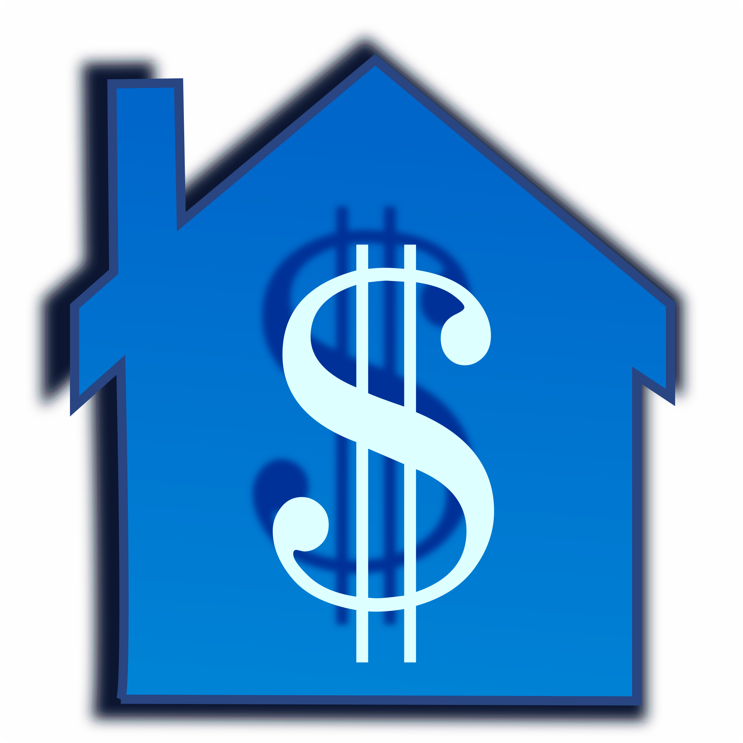 Dollars clipart blue. Home price big image