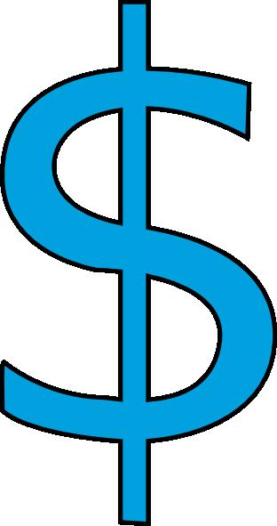 dollars clipart blue