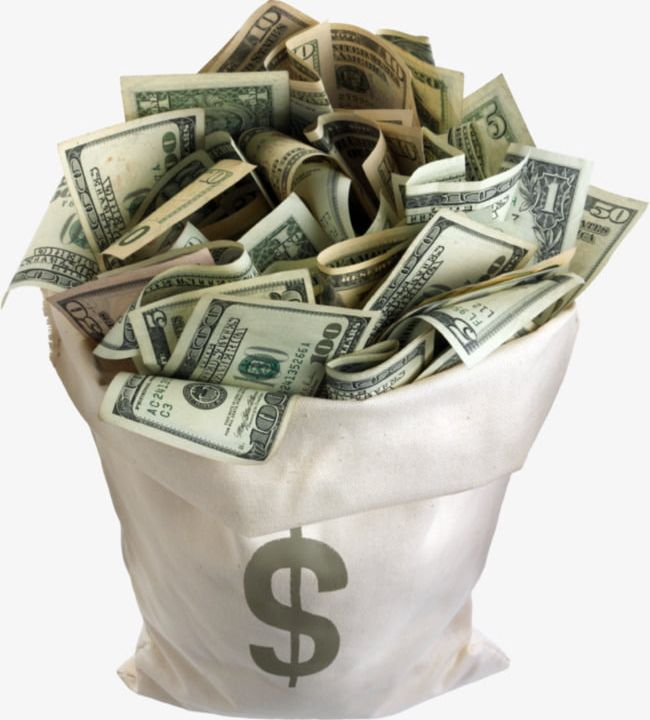 A of png currency. Dollars clipart dollar bag