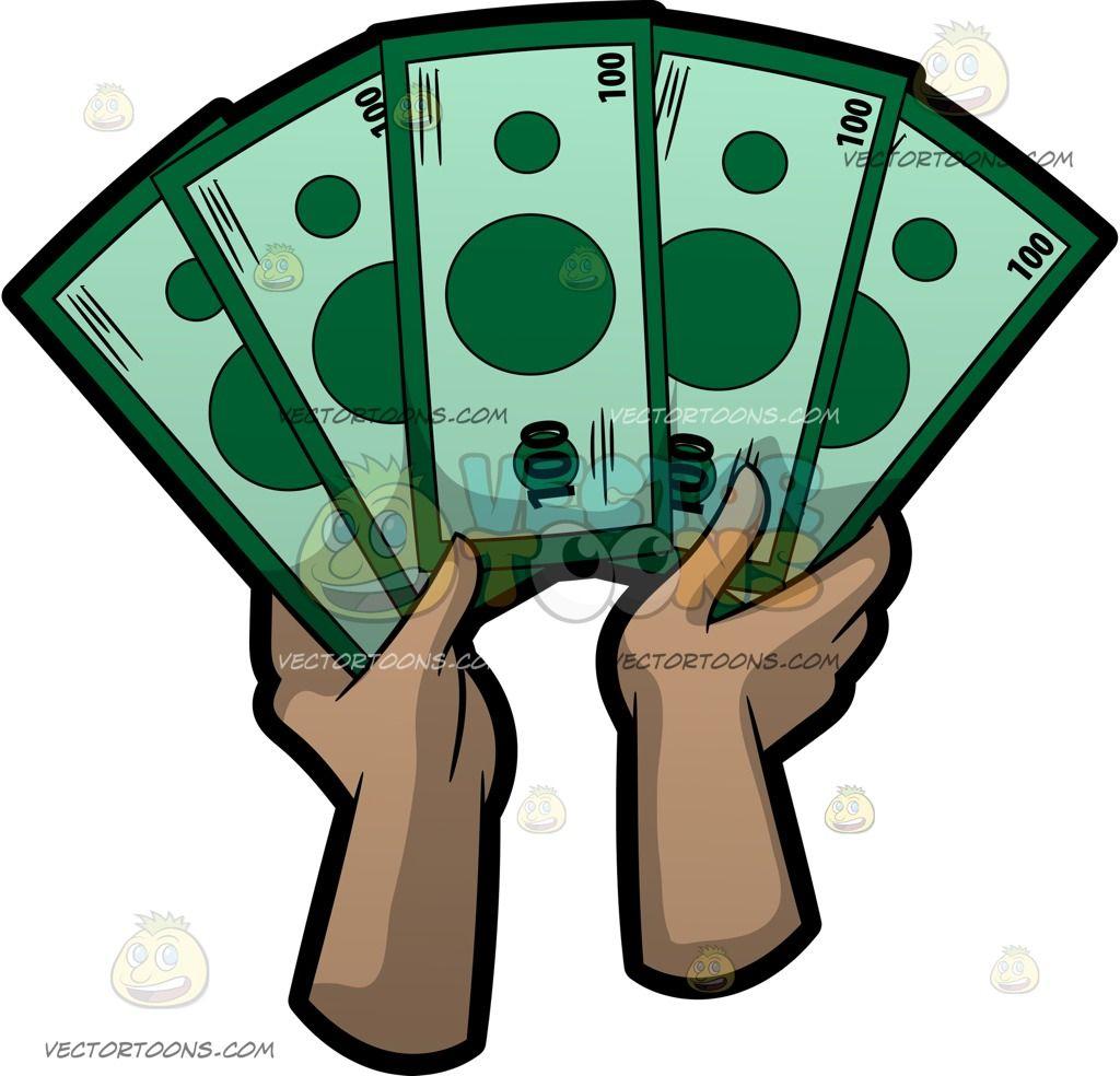 Dollars clipart fine. Cartoon a fan of