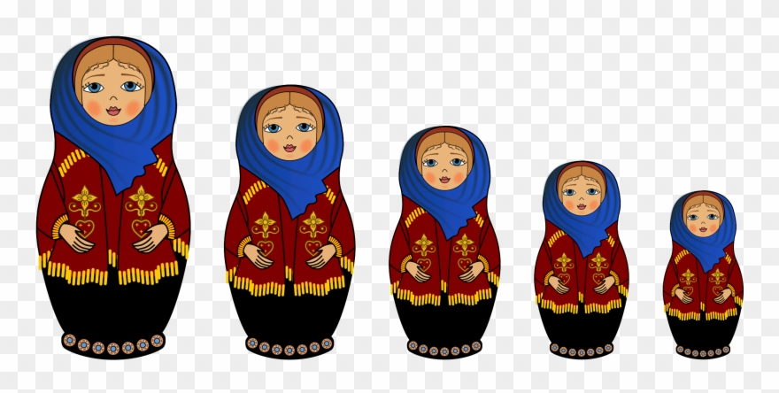 Dolls clipart big doll. Image matryoshka clip art