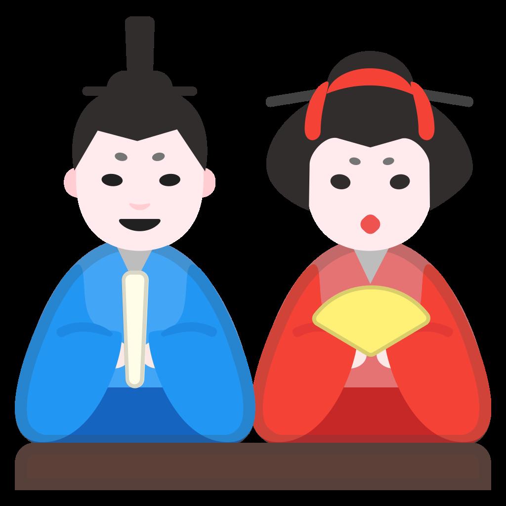 Dolls clipart child. Japanese icon noto emoji