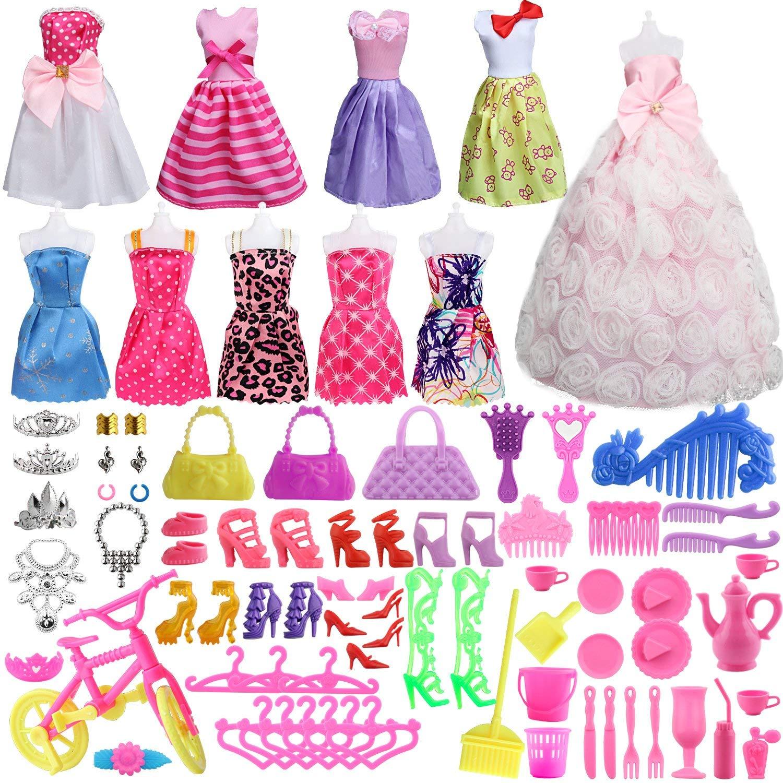 Dolls clipart clothes barbie. Amazon com sotogo pieces
