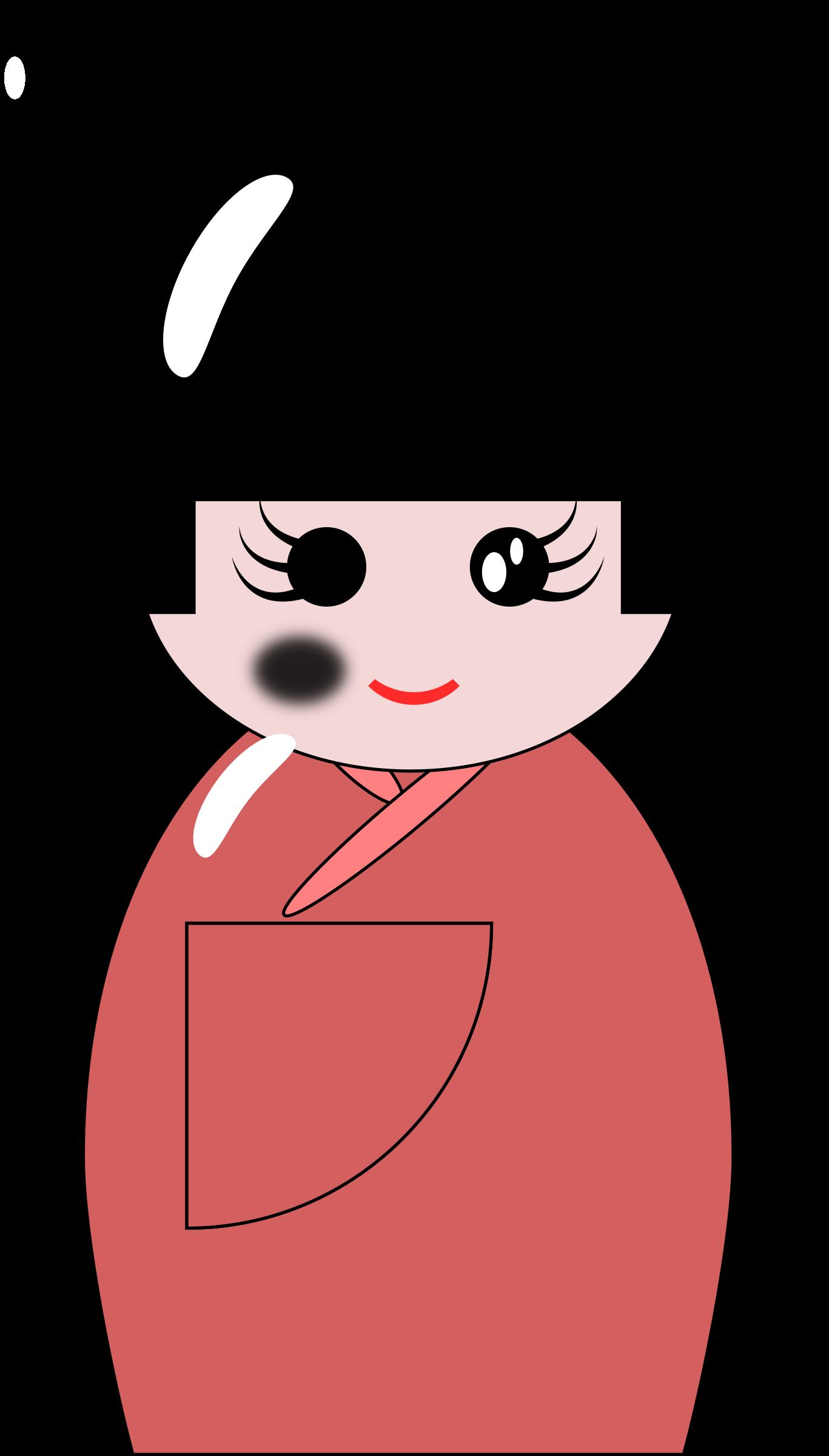 Dolls clipart doll japanese. Kokeshi big image png