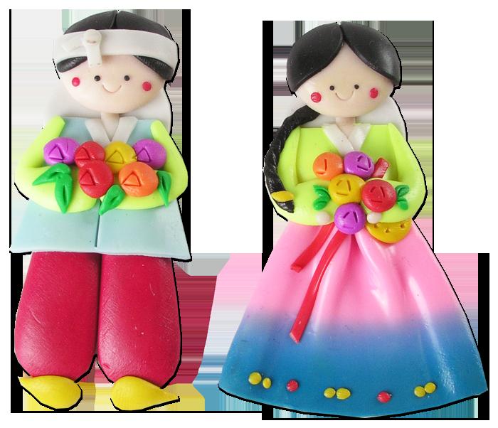 pairs pcs fridge. Dolls clipart korean doll