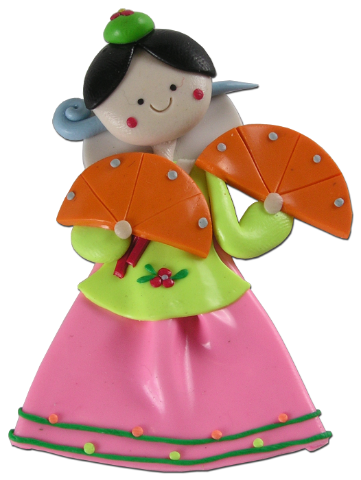 Dolls clipart korean doll.  pcs pretty fridge