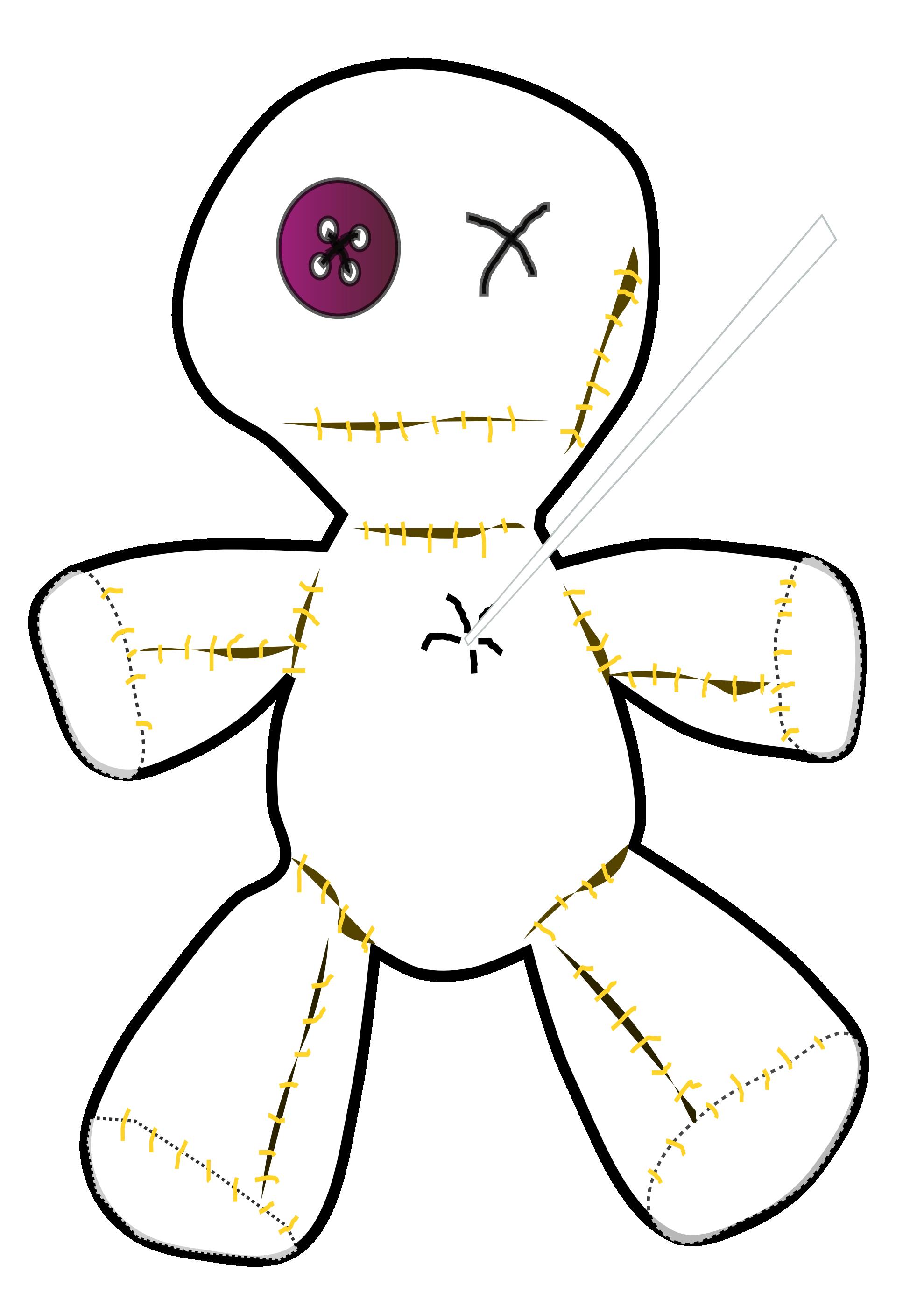 Dolls clipart line art. Clipartist net clip voodoo