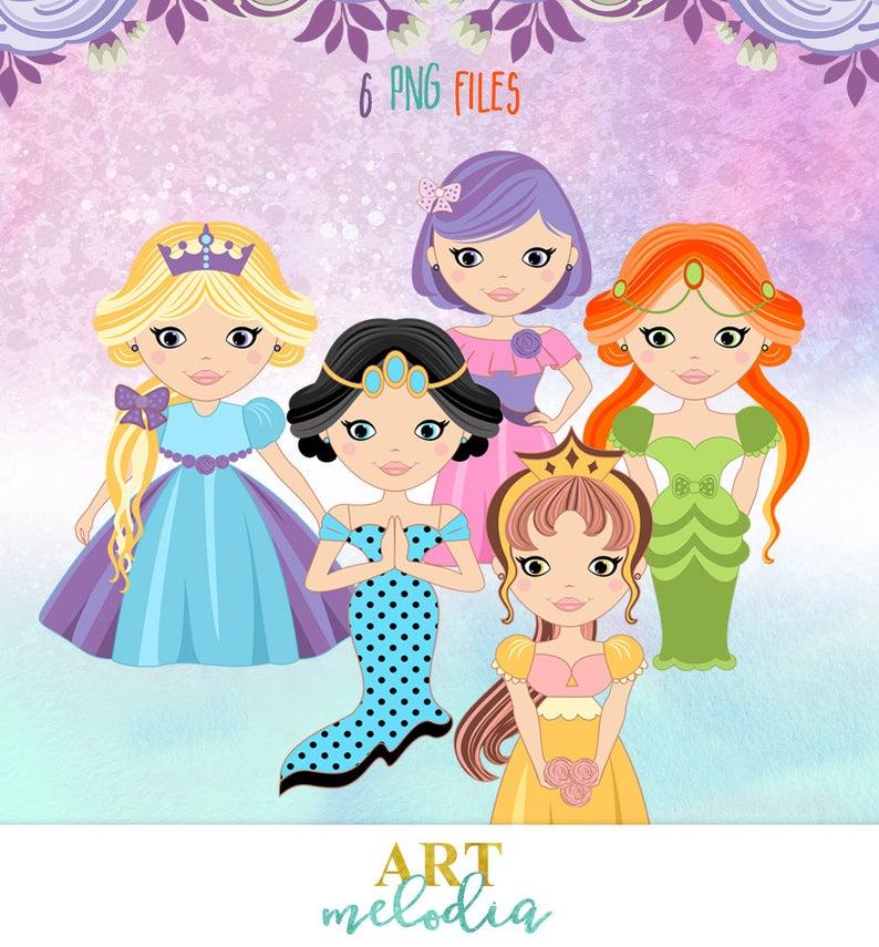 Fairy tale bella vector. Dolls clipart princess birthday party