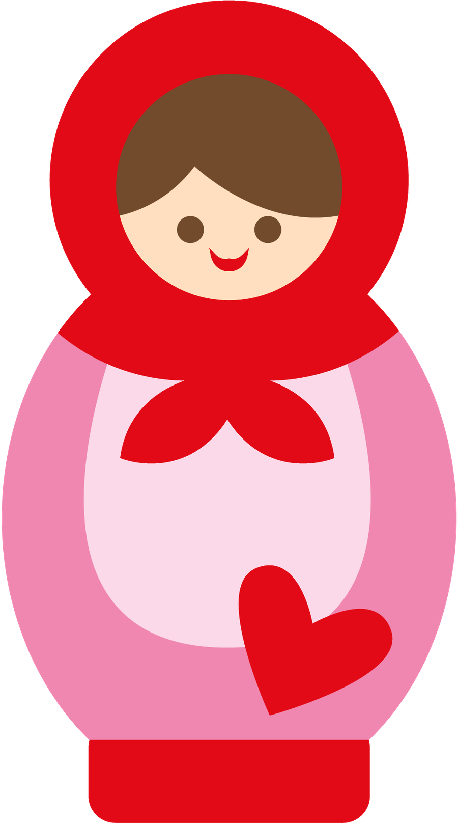Minus say hello matrioska. Dolls clipart sewing group