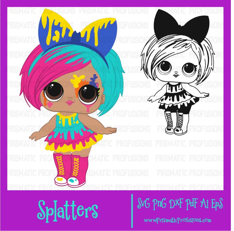 Splatters lol doll . Dolls clipart svg