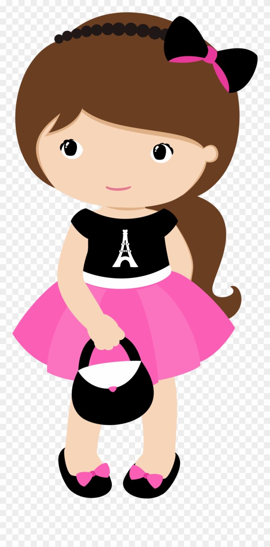 Cartoon kids cute clip. Dolls clipart transparent little girl