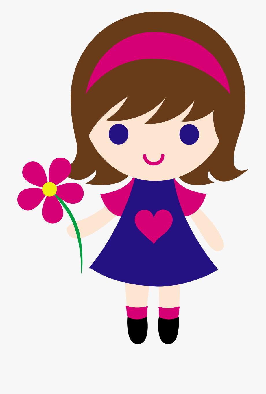 Hello simple woman . Dolls clipart transparent little girl