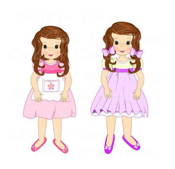 Doll clip art scrapbook. Dolls clipart transparent little girl