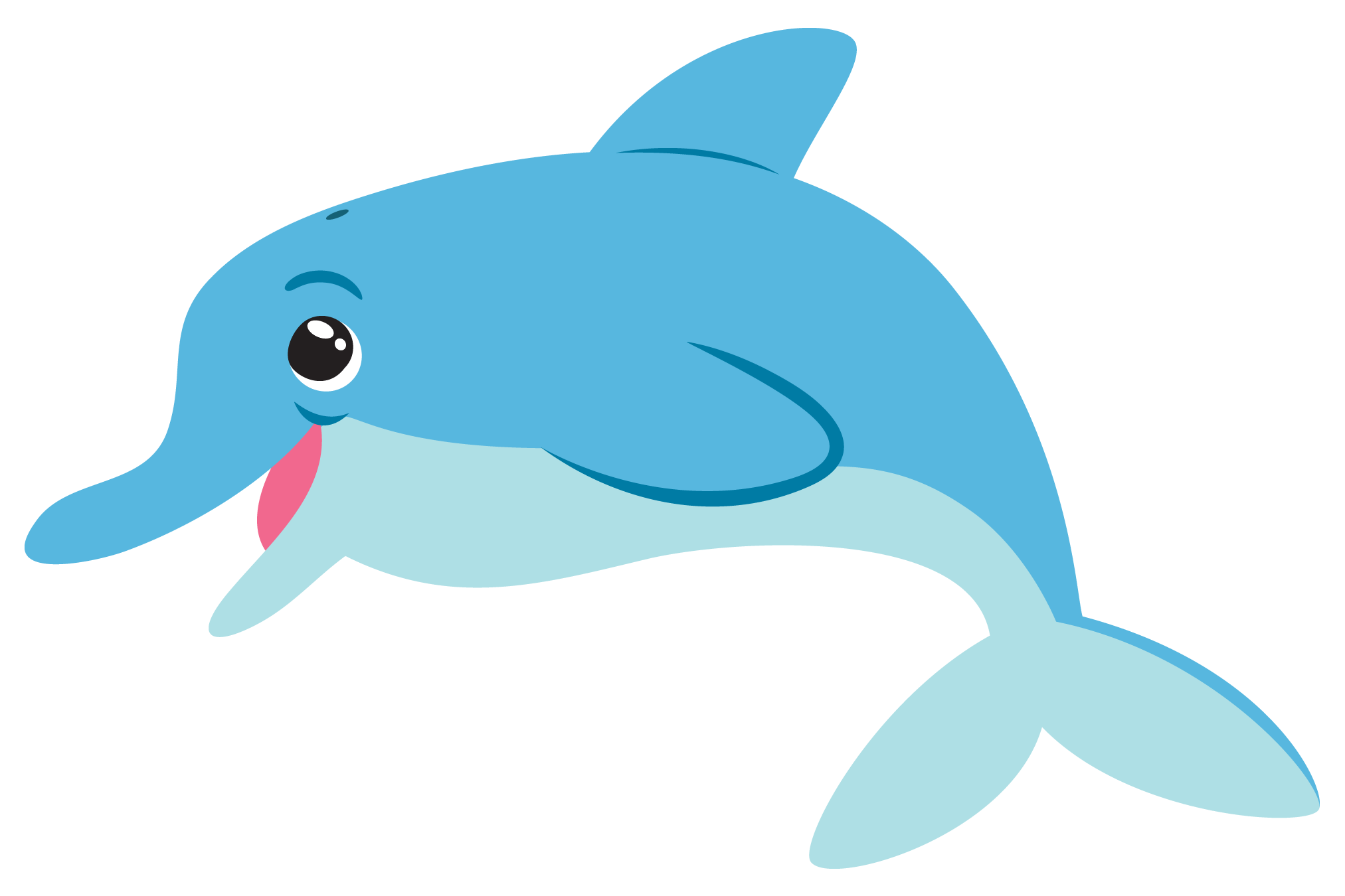Dolphin clipart. Happy