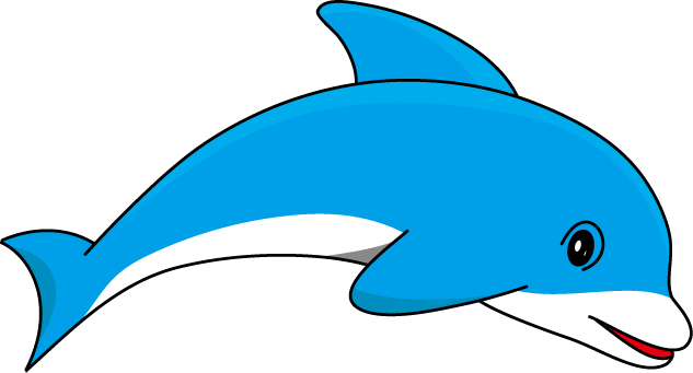 Dolphin clipart. Clip art with transparent