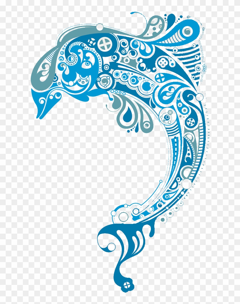 Dolphin clipart abstract. Art clip transprent png