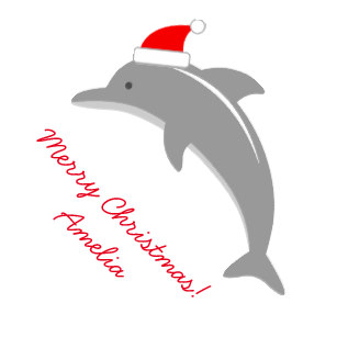 Dolphin clipart christmas. Cute wrapping paper zazzle
