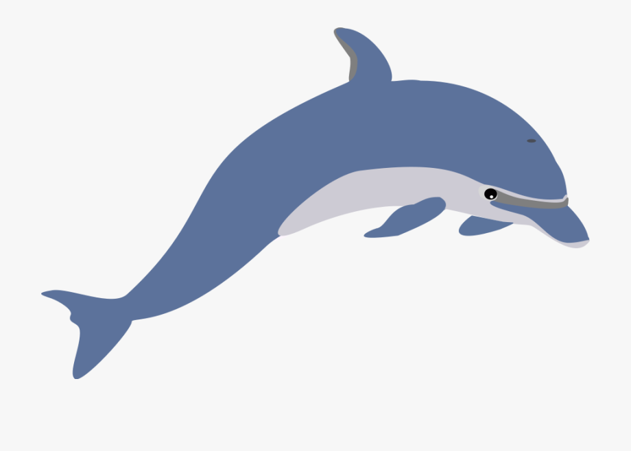 Dolphin clipart clear background. Clip art black and