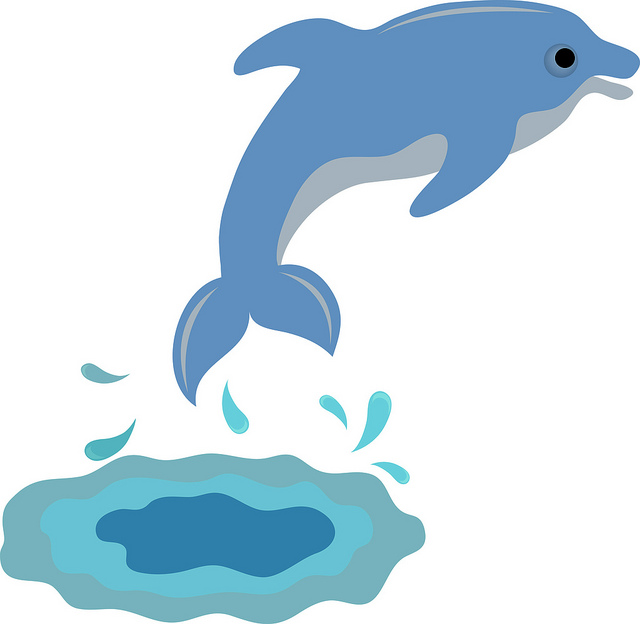 With dolphins clip art. Dolphin clipart dolphin swimming