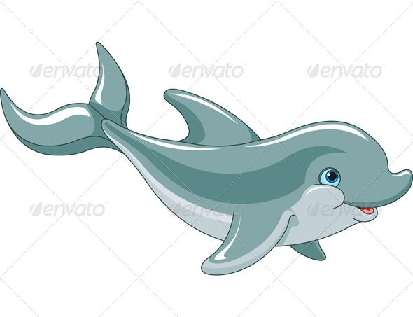 Dolphin clipart dolphin swimming. Animals characters baby tegninger