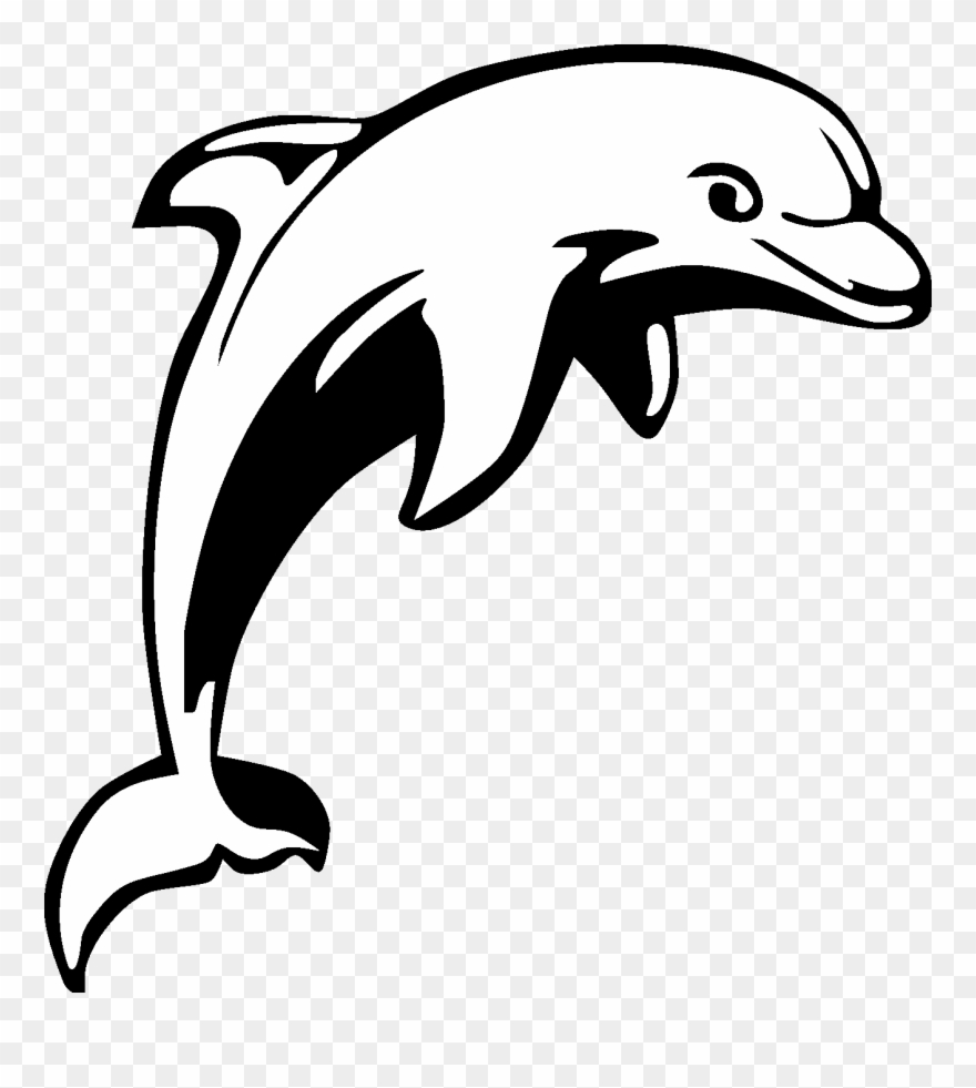 Dolphin clipart line. For free images